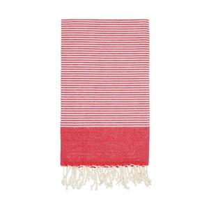 Ręcznik hammam Side Red, 100x180 cm