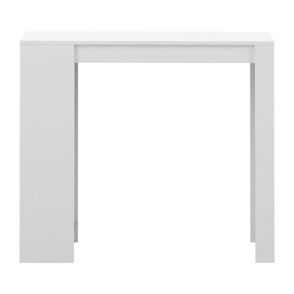 Biały stół barowy z białym blatem TemaHome Aravis