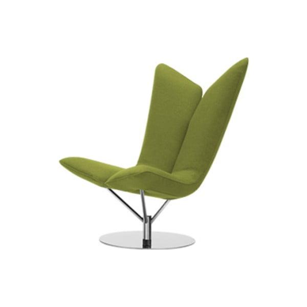 Zielony fotel Softline Angel Felt Melange Lime