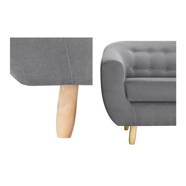 Szara sofa 2-osobowa Jalouse Maison Vicky