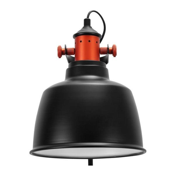 Czarna lampa stojąca Garageeight Etel