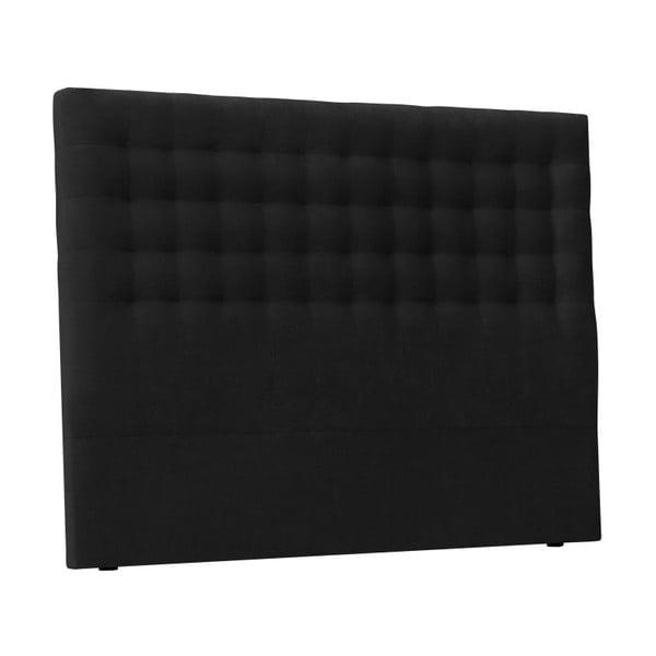 Czarny zagłówek łóżka Windsor & Co Sofas Nova, 140x120 cm