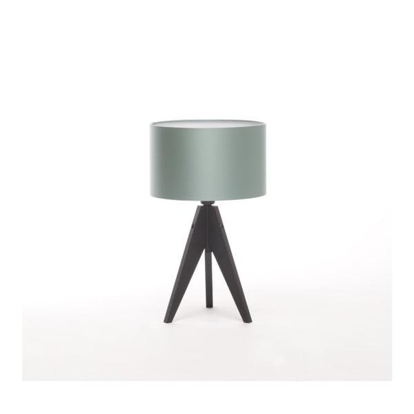 Stalowo-niebieska lampa stołowa 4room Artist, czarna lakierowana brzoza, Ø 25 cm