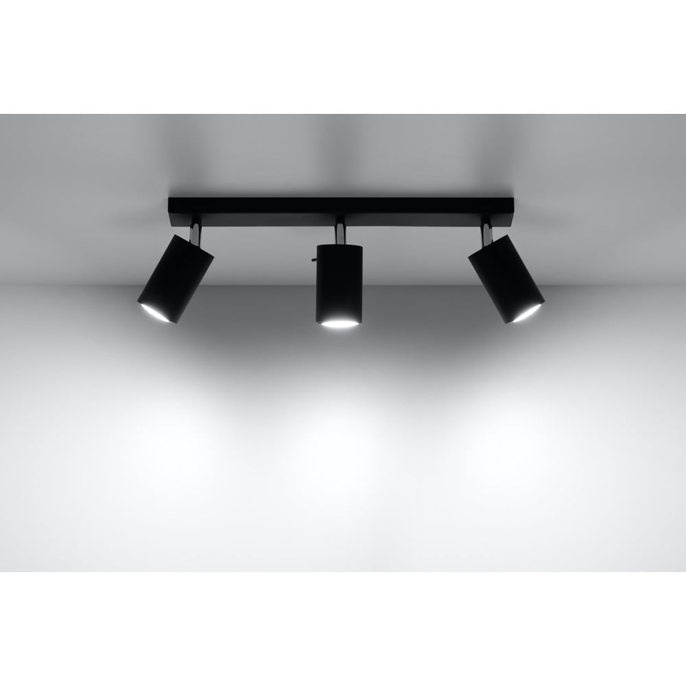 Czarna lampa sufitowa Nice Lamps Ethna