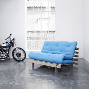 Sofa rozkładana Karup Roots Raw/Horizon Blue