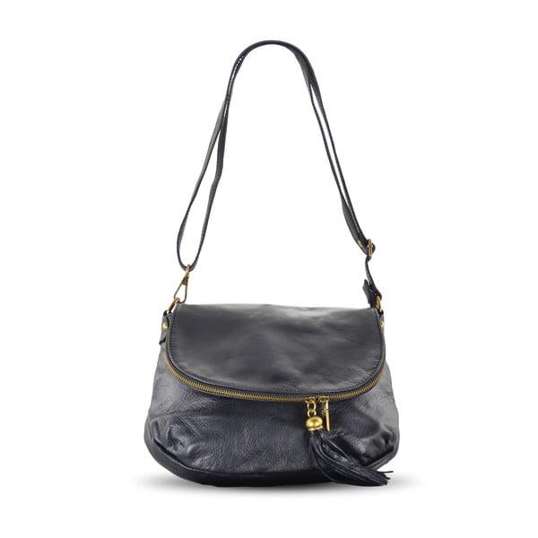 Skórzana torebka Celia, czarna