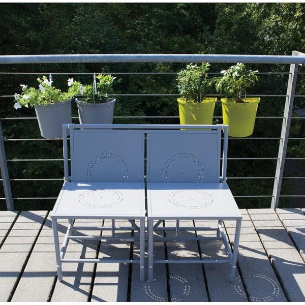 Szary zestaw składanych mebli balkonowych Esschert Design Magic