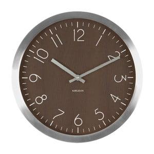 Brązowy zegar Present Time Wood Charm XL