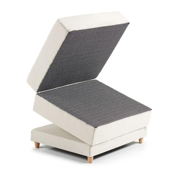 Szary puf rozkładany La Forma Kos, 70 x 180 cm