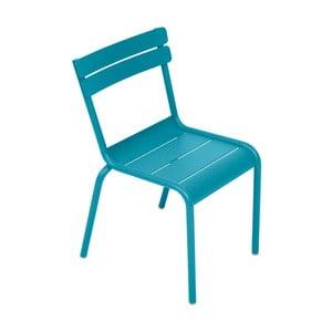 Turkusowe krzesło dziecięce Fermob Luxembourg