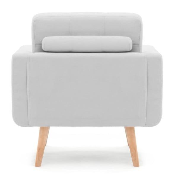 Jasnoszary fotel Vivonita Ina