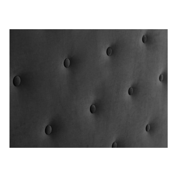 Ciemnoszary zagłówek łóżka Windsor & Co Sofas Astro, 180x120 cm