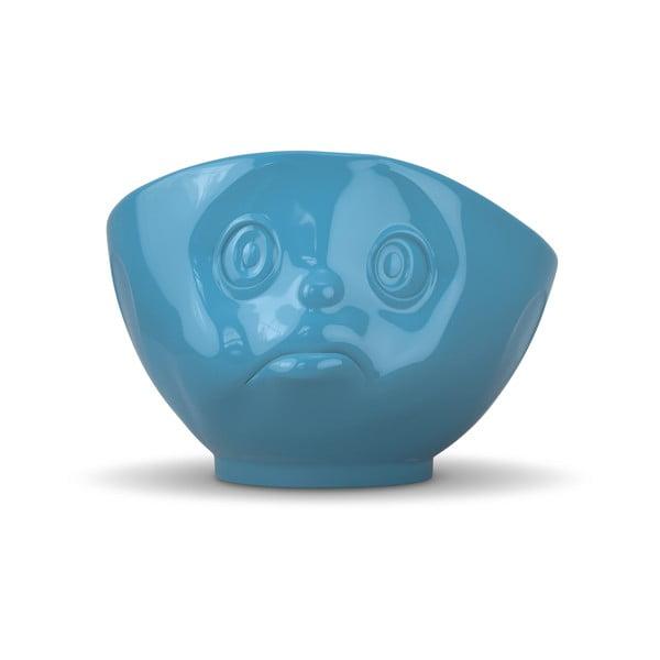 Niebieska nadąsana miska