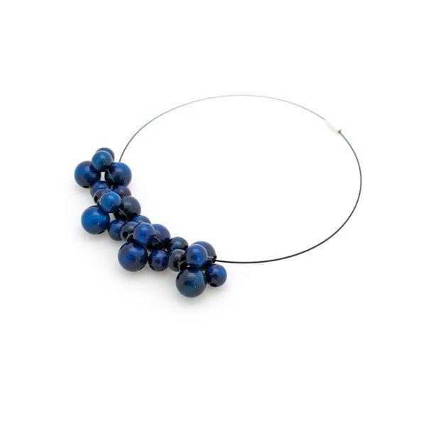 Niebieski naszyjnik drewniany Ko–ra–le Bubbles