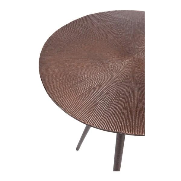 Jasny   metalowy stolik Alu