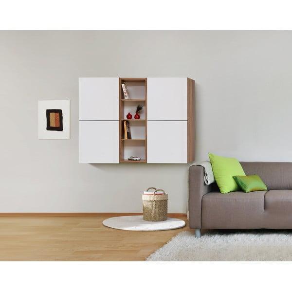 Półka ścienna Decoflex Book, biała/samba