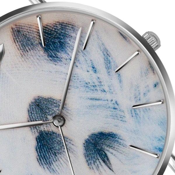 Zegarek damski z białym paskiem ze skóry Emily Westwood Feather