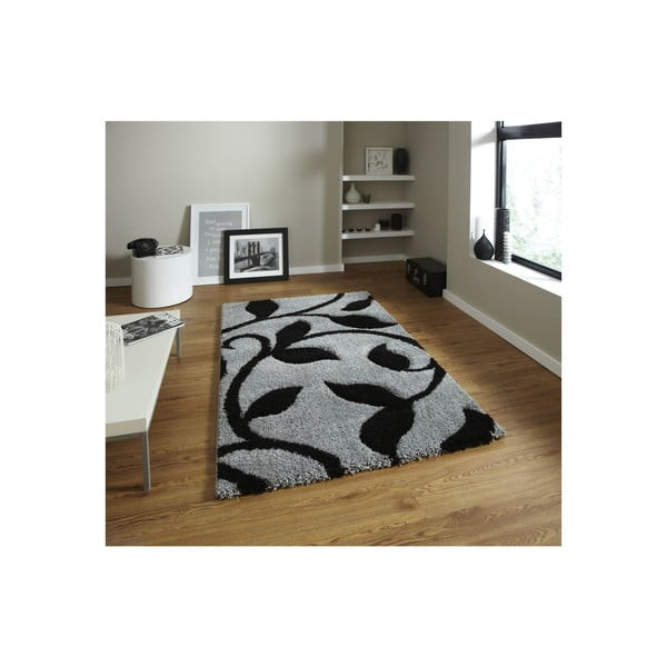 Dywan Think Rugs Fashion Grey Black, 80x150 cm