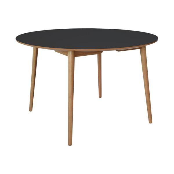 Stół do jadalni Trim, czarny blat/dębowe nóżki