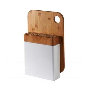 Biały stojak na noże z deską do krojenia Typhoon Connect