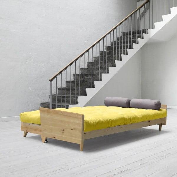 Sofa rozkładana Karup Indie Clear Lacquered/Pistacio/Gris