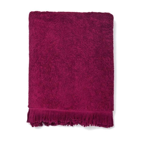 Komplet 2 bordowych ręczników kąpielowych z bawełny Casa Di Bassi Bath, 70x140 cm