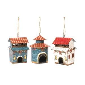Zestaw 3 dekoracji wiszących Bird Houses