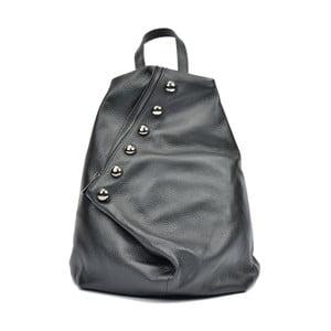 Czarny skórzany plecak Luisa Vannini Mell