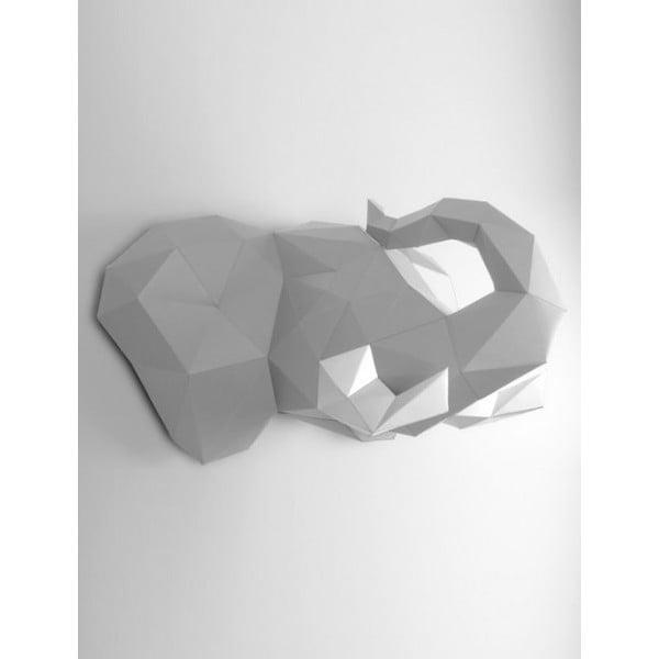 Papierowe poroże Słoń, szaro-białe