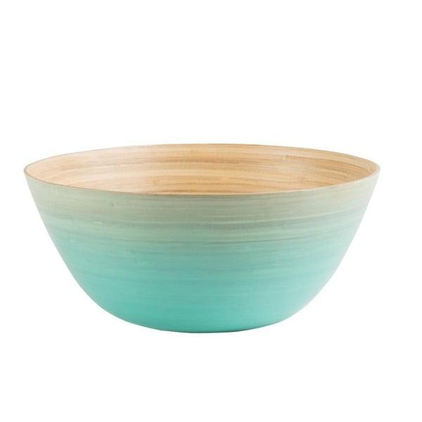 Bambusowa miska Rebu Ombre 28 cm, niebieska