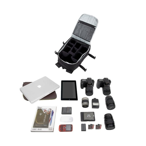 Dwukomorowy plecak fotograficzny Proper Roady, czarny