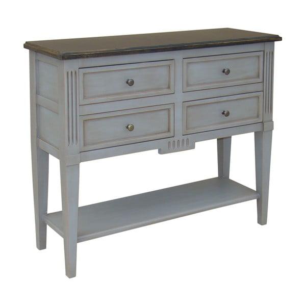 Stolik z 4 szufladami Belgique Grey