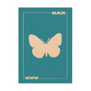 Turkusowy dywan dziecięcy Hanse Home Butterfly, 140x200 cm