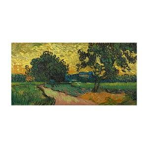Obraz Vincenta van Gogha - Landscape at Twilight, 80x40 cm