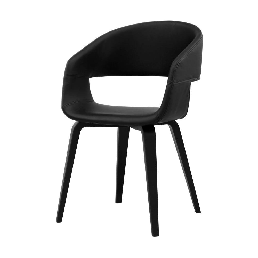 Czarne krzesło do jadalni Interstil Nova