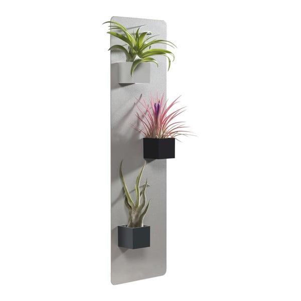Kwietnik na magnetyczne doniczki, szary, 14x50 cm