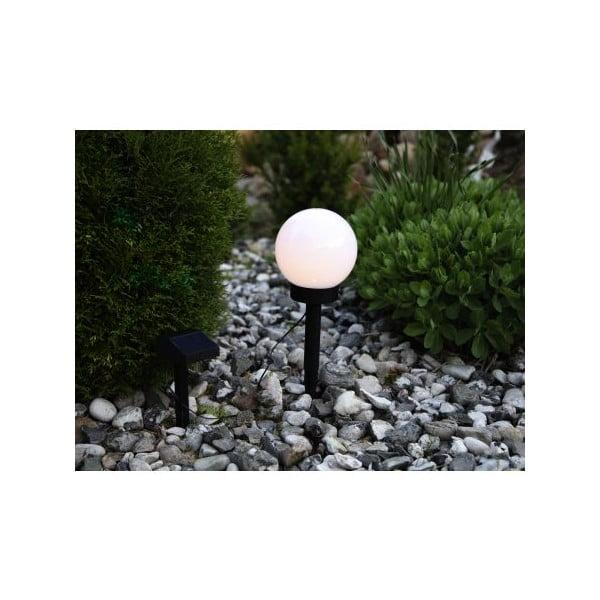 Solarna lampa ogrodowa LED Globe Stick, średnica 15 cm
