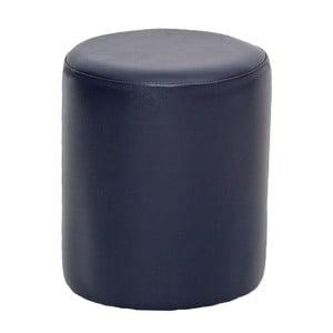 Ciemnoniebieski puf okrągły Rodhio