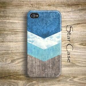 Etui na iPhone 4/4S Wood Arrow Blue