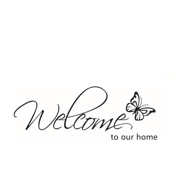 Naklejka dekoracyjna Our Home, 26x71 cm