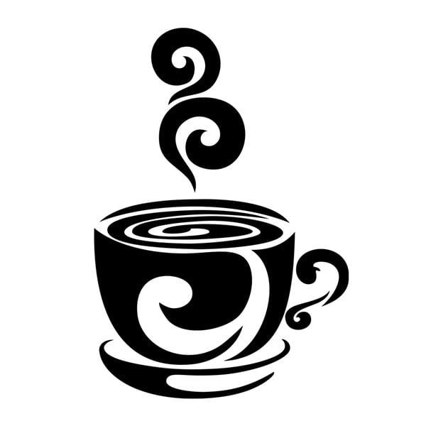 Naklejka Ambiance Cup Of Hot Coffee