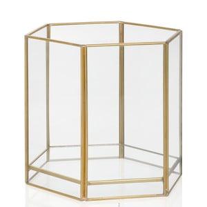 Świecznik Gold Hex, wysokość 13,7 cm