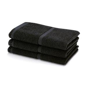 Czarny ręcznik Aquanova Adagio,30x50cm