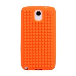 Pikselowe etui na Samsung Note 3, pomarańczowe
