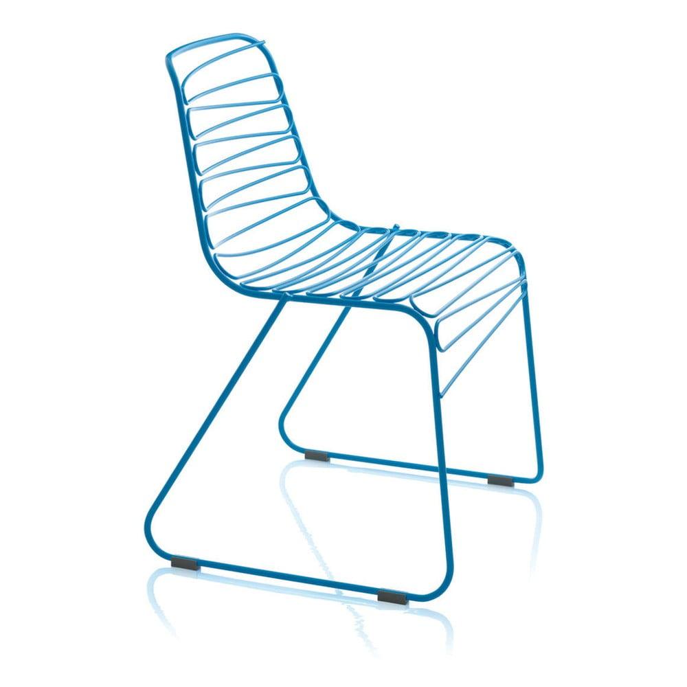 Niebieskie krzesło Magis Flux