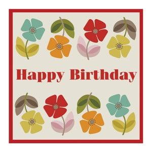 Kartka urodzinowa z kopertą Rex London Poppy