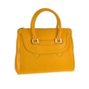 Skórzana torebka Grafias, żółta