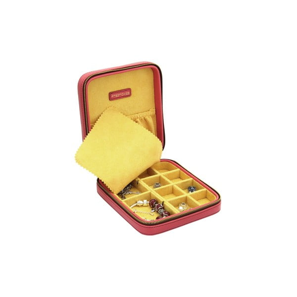 Czerwone pudełko na biżuterię Ascot