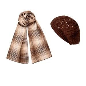 Czapka i szalik Chocholate Elegant