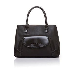 Skórzana torebka do ręki Marta Ponti Pocket, czarna